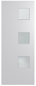 HUME DOOR BFR1 BUSH FIRE RESISTANT (BAL29) DURACOTE (TEMPERED HARDBOARD) GLAZED 6mm FROSTED 2040 x 820 x 40mm