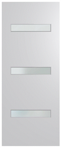 HUME DOOR BFR2 BUSH FIRE RESISTANT (BAL29) DURACOTE (TEMPERED HARDBOARD) GLAZED 6mm FROSTED 2040 x 820 x 40mm