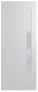 HUME DOOR BFR3 BUSH FIRE RESISTANT (BAL29) DURACOTE (TEMPERED HARDBOARD) GLAZED 6mm FROSTED 2040 x 820 x 40mm