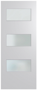 HUME DOOR BFR5 BUSH FIRE RESISTANT (BAL29) DURACOTE (TEMPERED HARDBOARD) GLAZED 6mm FROSTED