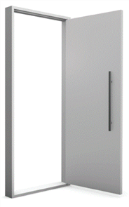 HUME DOOR BANDIT (SECURE) ASSEMBLED in 2100x1087x140x40mm MERANTI WEATHERGUARD FRAME