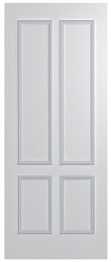 HUME DOOR BFR13 BUSH FIRE RESISTANT (BAL29) DURACOTE (TEMPERED HARDBOARD) 2040 x 820 x 40mm
