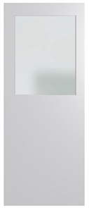 HUME DOOR BFR14 BUSH FIRE RESISTANT (BAL29) DURACOTE (TEMPERED HARDBOARD) GLAZED 6mm FROSTED