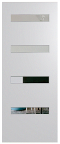 HUME DOOR BFR4 BUSH FIRE RESISTANT (BAL29) DURACOTE (TEMPERED HARDBOARD) GLAZED 6mm CLEAR 2040 x 820 x 40mm