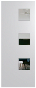 HUME DOOR BFR1 BUSH FIRE RESISTANT (BAL29) DURACOTE (TEMPERED HARDBOARD) GLAZED 6mm CLEAR 2040 x 820 x 40mm