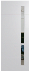 HUME DOOR BFR4017 BUSH FIRE RESISTANT (BAL40) DURACOTE (TEMPERED HARDBOARD) GLAZED 6mm CLEAR 2040 x 820 x 45mm