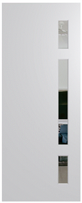 HUME DOOR BFR402 BUSH FIRE RESISTANT (BAL40) DURACOTE (TEMPERED HARDBOARD) GLAZED 6mm CLEAR 2040 x 820 x 45mm