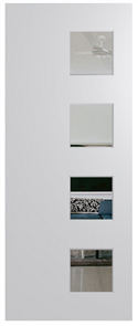 HUME DOOR BFR407 BUSH FIRE RESISTANT (BAL40) DURACOTE (TEMPERED HARDBOARD) GLAZED 6mm CLEAR 2040 x 820 x 45mm
