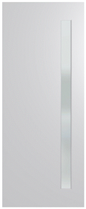 HUME DOOR BFR401 BUSH FIRE RESISTANT (BAL40) DURACOTE (TEMPERED HARDBOARD) GLAZED 6mm FROST 2040 x 820 x 45mm