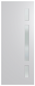 HUME DOOR BFR402 BUSH FIRE RESISTANT (BAL40) DURACOTE (TEMPERED HARDBOARD) GLAZED 6mm FROST 2040 x 820 x 45mm