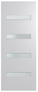 HUME DOOR BFR405 BUSH FIRE RESISTANT (BAL40) DURACOTE (TEMPERED HARDBOARD) GLAZED 6mm FROST 2040 x 820 x 45mm