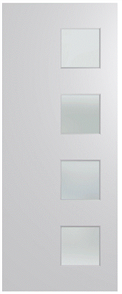 HUME DOOR BFR407 BUSH FIRE RESISTANT (BAL40) DURACOTE (TEMPERED HARDBOARD) GLAZED 6mm FROST 2040 x 820 x 45mm