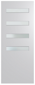 HUME DOOR BFR4013 BUSH FIRE RESISTANT (BAL40) DURACOTE (TEMPERED HARDBOARD) GLAZED 6mm FROST 2040 x 820 x 45mm