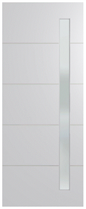 HUME DOOR BFR4017 BUSH FIRE RESISTANT (BAL40) DURACOTE (TEMPERED HARDBOARD) GLAZED 6mm FROST 2040 x 820 x 45mm