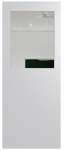 HUME DOOR BFR14 BUSH FIRE RESISTANT (BAL29) DURACOTE (TEMPERED HARDBOARD) GLAZED 6mm CLEAR 2040 x 820 x 40mm