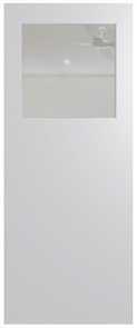 HUME DOOR BFR15 BUSH FIRE RESISTANT (BAL29) DURACOTE (TEMPERED HARDBOARD) GLAZED 6mm CLEAR 2040 x 820 x 40mm