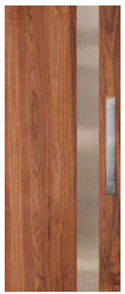 CORINTHIAN DOOR INFUSION METAL FUSMW 101 WALNUT 2040 x 820 x 40mm