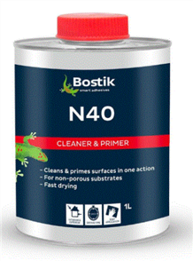 BOSTIK N40 PRIMER (NON POROUS) SURFACE PRIMER / CLEANER 1ltr