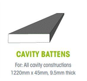 WTEX CAVITY BATTEN 45 x 9.5 x 1220mm