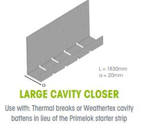 WTEX CAVITY CLOSER LARGE 20mm x 1830mm