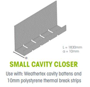 WTEX CAVITY CLOSER SMALL 10mm x 1830mm