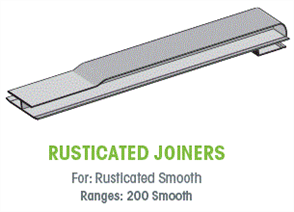WTEX CLASSIC RUSTICATED SMOOTH JOINER EACH - 200mm