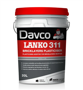DAVCO (LANKO) BRICKLAYERS PLASTICISER #311 - 20LTR