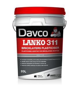 DAVCO (LANKO) BRICKLAYERS PLASTICISER #311 - 20LTR