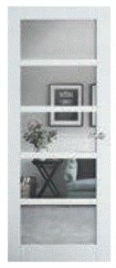 CORINTHIAN DOOR MODA PMOD5GC PRIMED INTERNAL GLAZED CLEAR