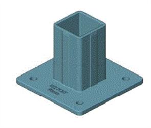 EZIPIER (SPANTEC) SQUARE HOLLOW SECTION (SHS) POST BASE (4 x HOLE)