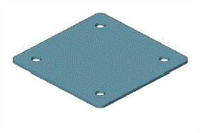 EZIPIER (SPANTEC) SQUARE HOLLOW SECTION (SHS) POST BASE (4 x HOLE) PROTECTOR ONLY