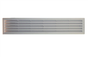 VENT PLASTIC WHITE (DOOR) 450 x 100mm