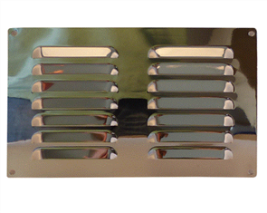 VENT BRASS CHROME PLATED 250 x 165mm