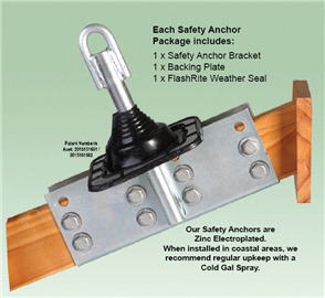 ROOF SAFETY ANCHOR BRACKET & SEAL