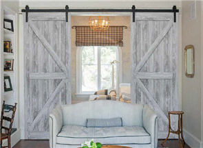 HUME DOOR BARN FRONTIER RUSTIC 2150 x 1000 x 35mm w/- HOLES & GROOVE for TRACK & FITTINGS
