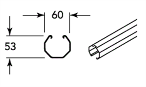 FENCING (SMARTASCREEN, NEETASCREEN) UNIVERSAL FENCE RAIL