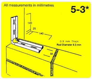 M.E.T. 5-3 COLUMN EXPANSION TIE BX50