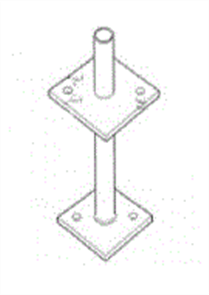 POST SUPPORTS PIN TYPE GALVANISED