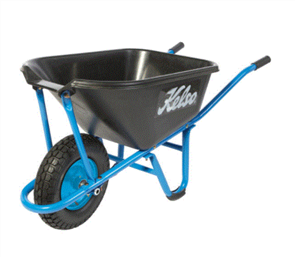 "WHEELBARROW KELSO 65LT PRO TRADE NARRA BARRA POLY TRAY 4.8"" FLAT FREE WHEEL"