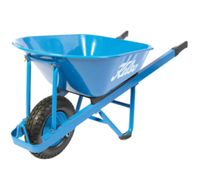 "WHEELBARROW KELSO 100LT HEAVY TRADE STEEL TRAY 4.8"" FLAT FREE WHEEL"