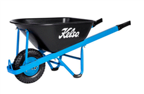 "WHEELBARROW KELSO 100LT CONTRACTORS POLY TRAY 4.8"" FLAT FREE WHEEL"