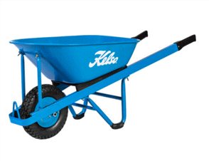 "WHEELBARROW KELSO 100LT CONTRACTORS STEEL TRAY 4.8"" FLAT FREE WHEEL"