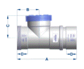 SEWER PIPE 100mm EXPANSION COUPLING WITH GATE