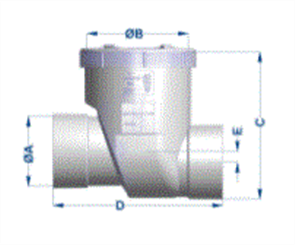 SEWER PIPE 100mm REFLUX VALVE