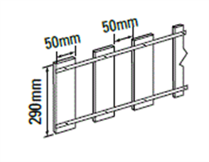 FENCING EXTENSION PICKETS 300 x 3122mm (PAINTED)
