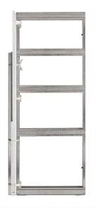 CORINTHIAN CAVITY SLIDER METAL (PLATINUM 4000) SINGLE UNIVERSAL FLUSH JAMB w/- FLUSH PULL ADAPTER