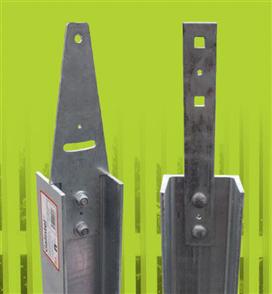 RETAINING WALL FENCING BRACKET 6mm (inc. NUT, BOLT & WASHER)