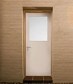 CORINTHIAN DOOR BACKDOOR No. 7 HOLLOWCORE DURACOTE GLAZED TRANSLUCENT