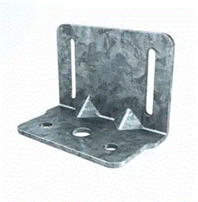 MAXIFRAME #203, SLOTTED HEAD CLEAT BRACKET (MAXITRACK) 92 x 3.0mm
