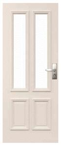 CORINTHIAN DOOR CLASSIC PCL 4G  BAL12.5 EXTERNAL MDF CORE PRIMED GLAZED TRANSLUCENT 2040 x 820 x 40mm